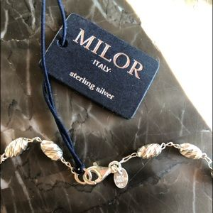 NWT MILOR Sterling Silver made in Italy Necklace.